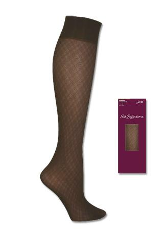 Hanes Silk Reflections Diamond Tulle Kneehighs 1 Pair Pack