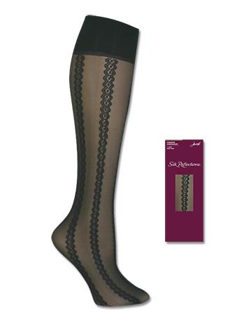 Hanes Silk Reflections Sheer Cable Kneehighs 1 Pair Pack