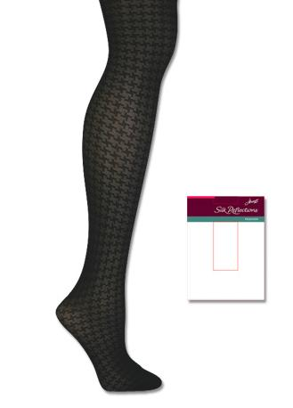 Hanes Silk Reflections Sheer Houndstooth Control Top 1 Pair Pack