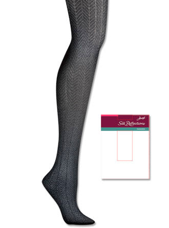 Hanes Silk Reflections Chevron Control Top Tight 1 Pair Pack