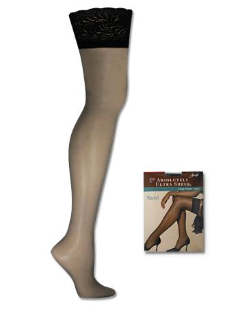 Hanes Absolutely Ultra Sheer Lace Thigh High 1 Pair Pack