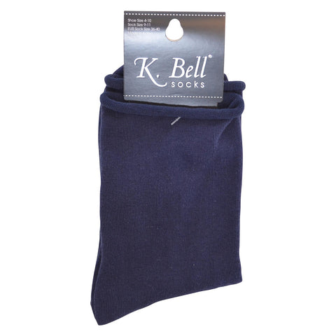 K. Bell Womens Relaxed Top Crew Socks