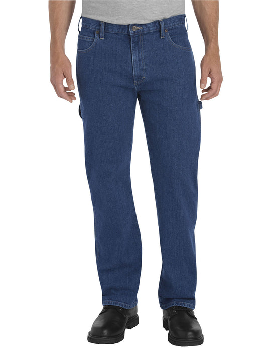 Dickies Mens FLEX Relaxed Fit Straight Leg Carpenter Denim Jeans