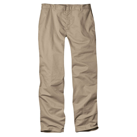 Dickies Boys Adult Sized Classic Fit Straight Leg Flat Front Pants