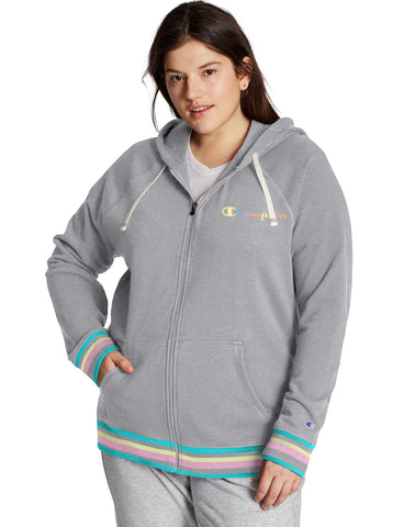 Champion Womens Plus Heritage French Terry Zip Hoodie