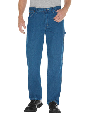 Dickies Mens Relaxed Fit Stonewashed Carpenter Denim Jeans