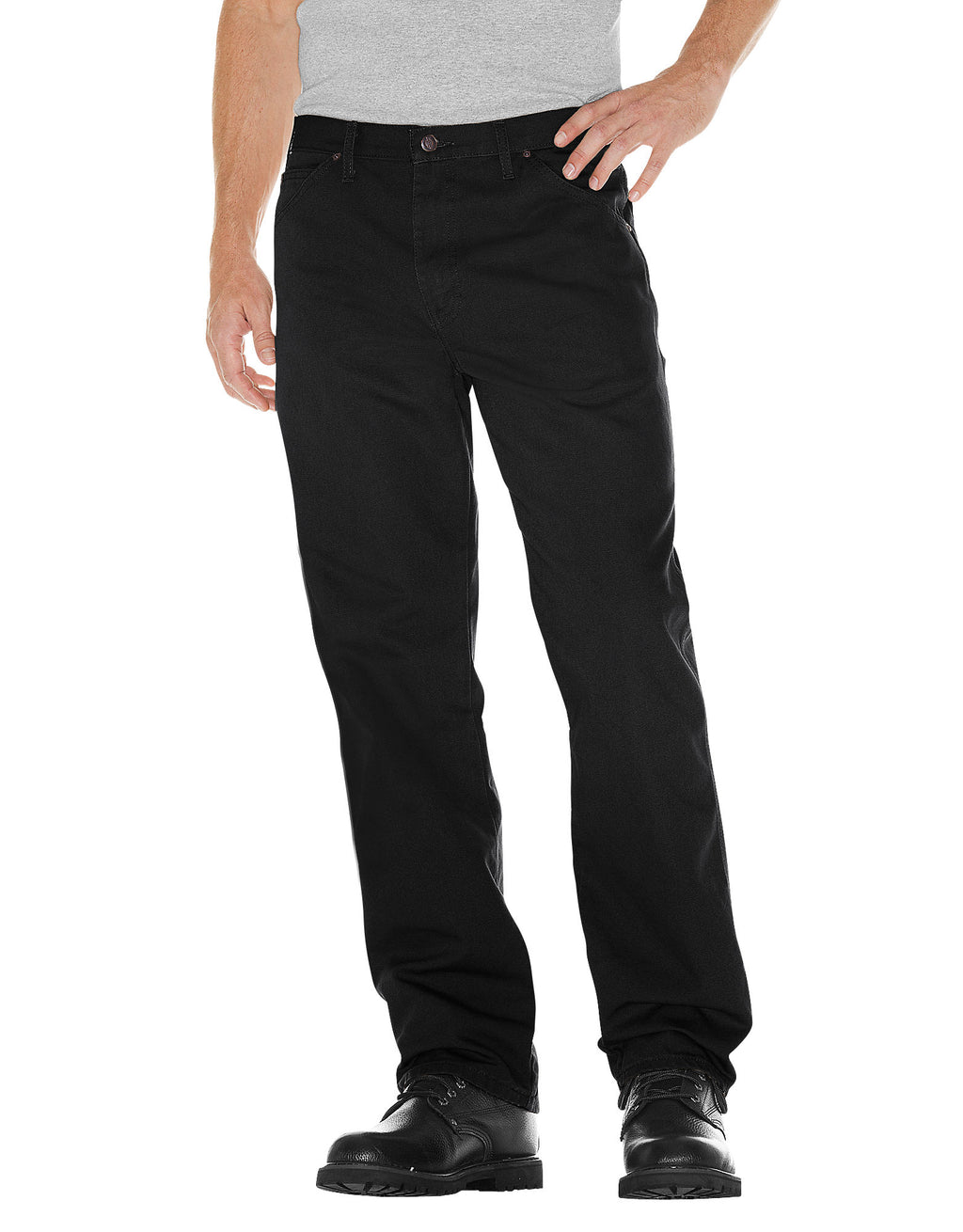 Dickies Mens Relaxed Fit Straight Leg Carpenter Duck Jeans