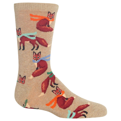 Hot Sox Kids Winter Foxes Crew Socks