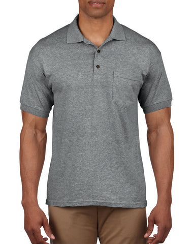 Gildan Mens DryBlend Jersey Sport Shirt with Pocket, XL, Graphite Heather