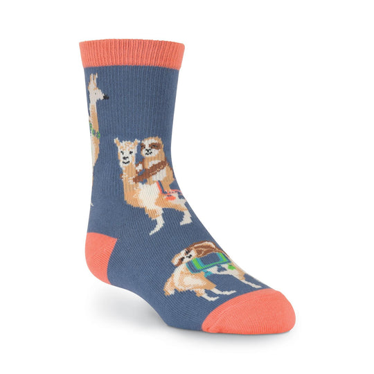 K. Bell Kids Sloths Riding Llamas Crew Socks