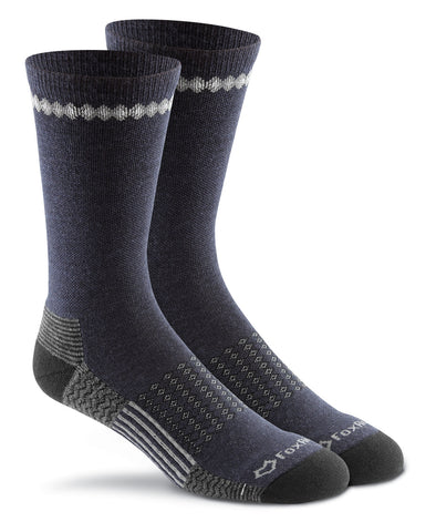 Fox River Adult Carbon Medium Weight Merino Wool Crew Sock
