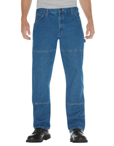 Dickies Mens Relaxed Fit Double Knee Carpenter Denim Jeans