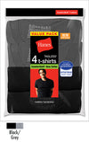 Hanes Men's ComfortSoft Dyed TAGLESS Crewneck Undershirt 4-Pack