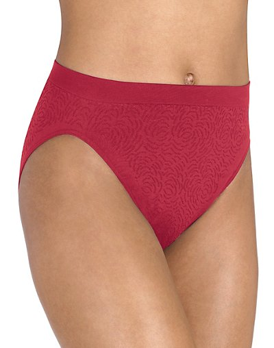 Barely There Microfiber Damask Hi-Cut Pantie