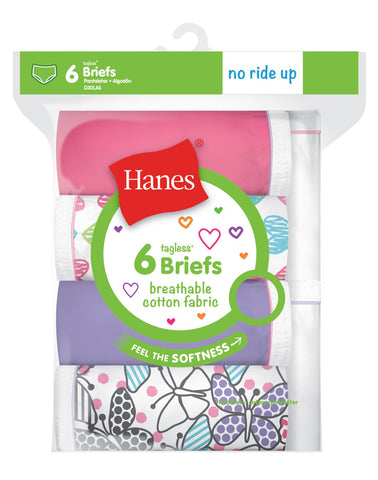 Hanes Girls Breathable Cotton Briefs 6-Pack