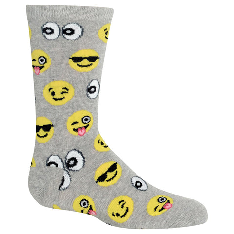 Hot Sox Kids Emoji Crew Socks