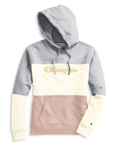Champion Womens Powerblend Colorblock Hoodie