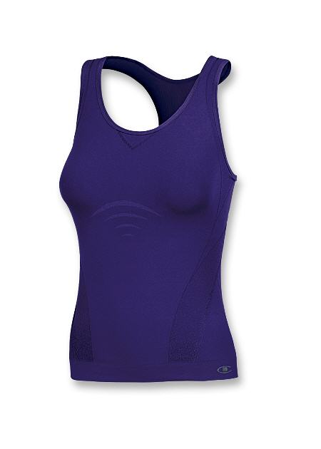 a84c1b5bea677 Champion Double Dry Seamless Vented Long Sports Top with Built-In Bra