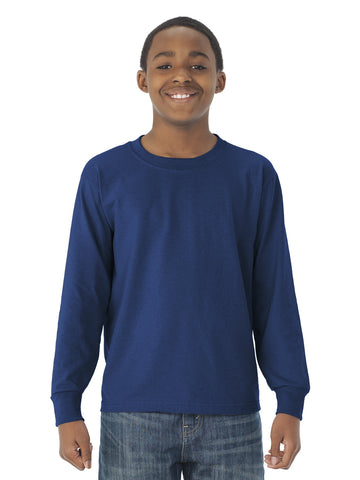 Jerzees Youth DRI-POWER Active Long Sleeve Crew T-Shirt