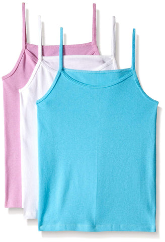 Fruit Of The Loom Toddler Girls 3 Pack Assorted Cotton Cami