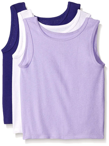 Fruit Of The Loom Toddler Girls 3 Pack Assorted Cotton Tank