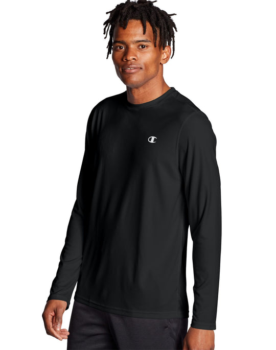 Champion Mens Double Dry Core Long-Sleeve Tee