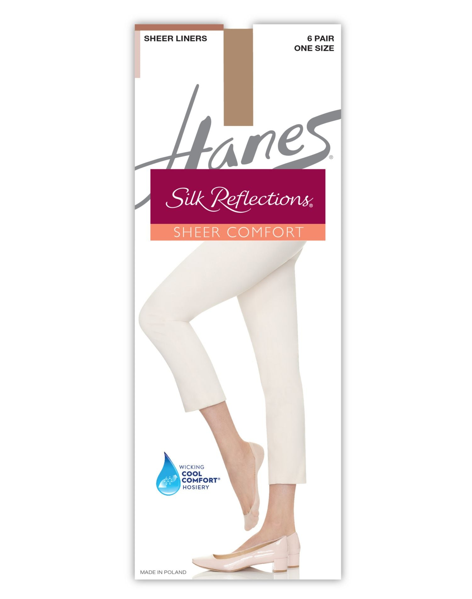 Hanes Pantyhose Silk Reflections Sheer Toe Control Top Cool Comfort Style 707