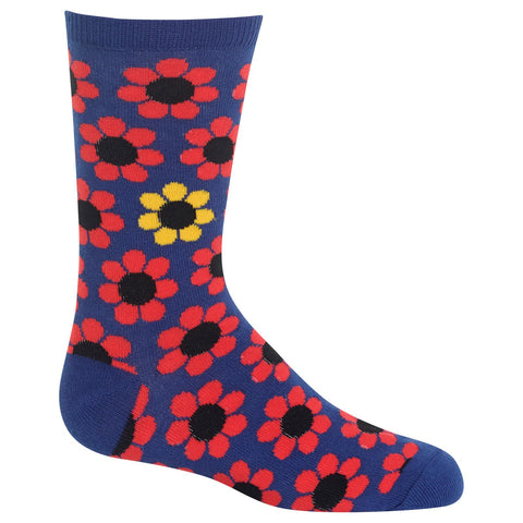 Hot Sox Kids Daisy Crew Socks