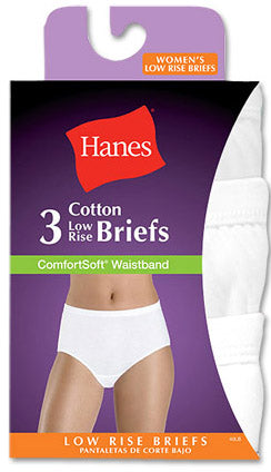 Hanes Comfort Soft Low Rise Brief 3 Pack White