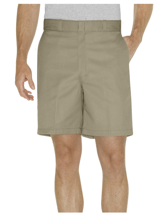 "Dickies Mens 8"" Relaxed Fit Traditional Flat Front Shorts"