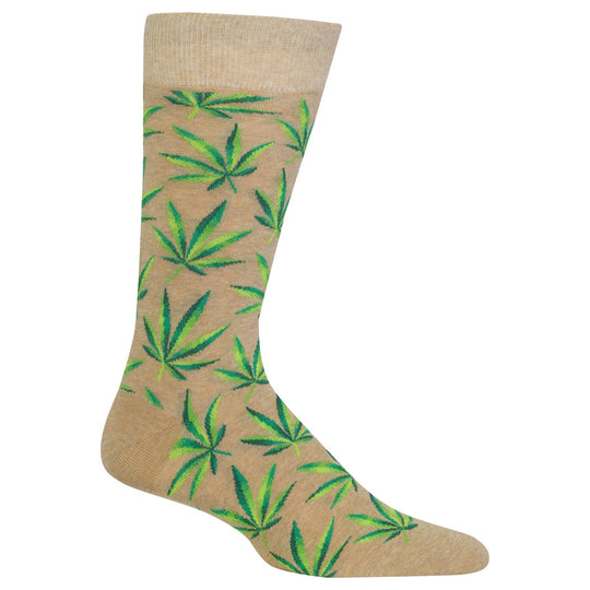 Hot Sox Mens Marijuana Crew Socks