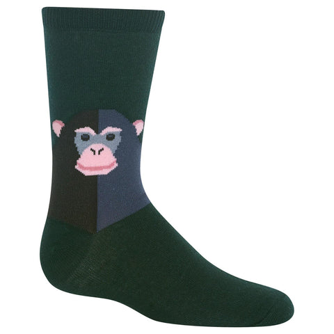 Hot Sox Kids Monkey Crew Socks