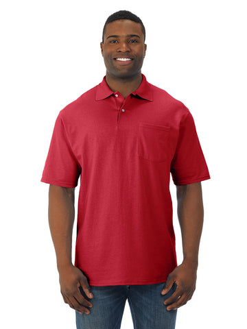 Jerzees Mens SpotShield Short Sleeve Pocket Jersey Sport Shirt