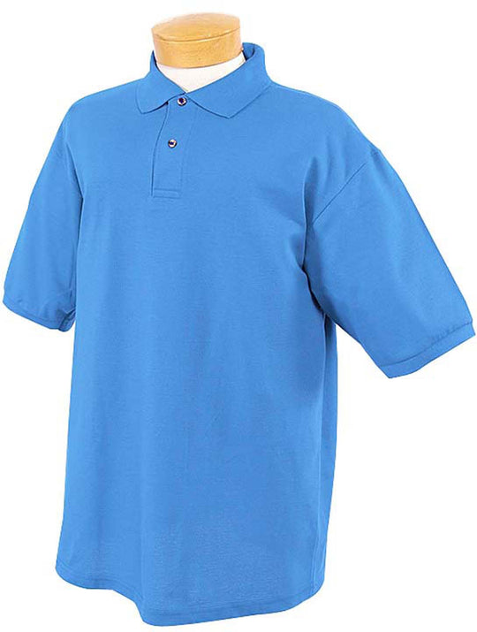 Jerzees Mens Ring-Spun Cotton Pique Short Sleeve Sport Shirt