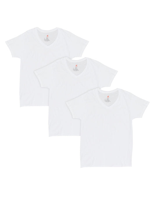 Hanes Mens Comfort Fit Ultra Soft Cotton/Modal V-Neck Undershirt 2XL 3-Pack