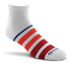 Fox River Rally Stripe Men`s Lightweight Quarter Crew Socks
