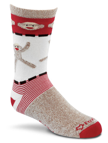 Fox River Monkey Cartwheels Kids Lightweight Crew Socks