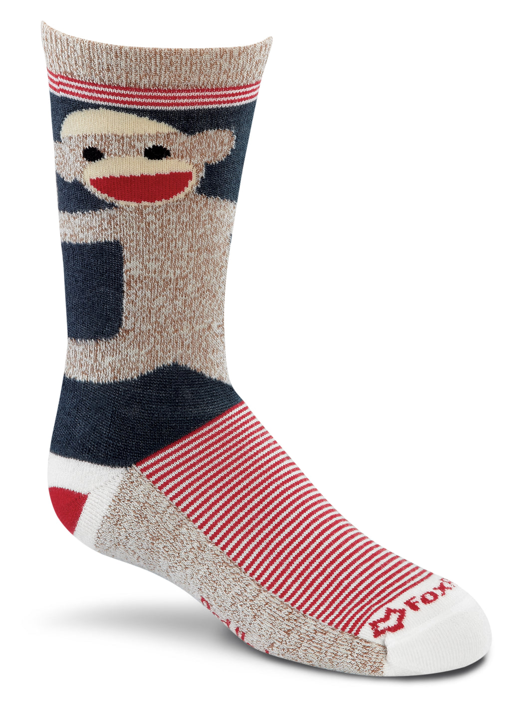 Fox River Monkey Hugs Kids Lightweight Crew Socks