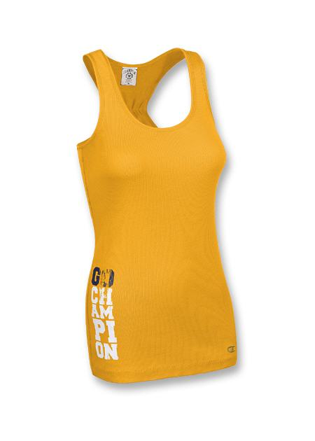 Champion Women's 2x1 Rib Racerback Tank w/ Graphic