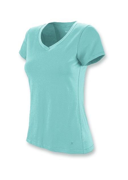 Champion Stretch-Cotton V-Neck Women's T Shirt