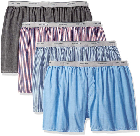 Fruit Of The Loom Mens Exposed Waistband X-Sizes Boxer - 4-Pack