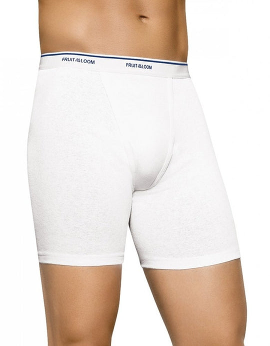 Fruit of the Loom Men`s 4pk Classic White Boxer Brief - X-Size