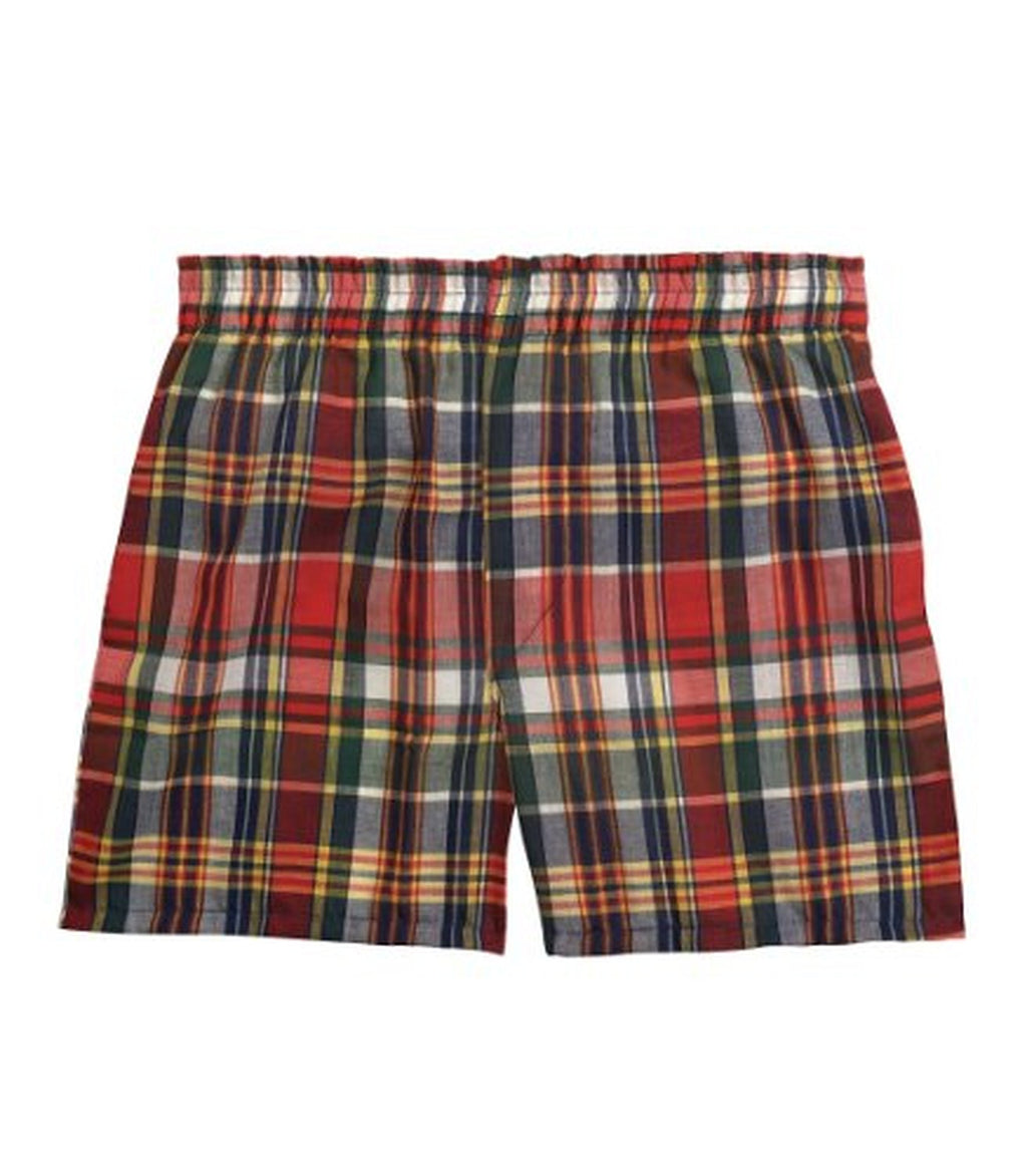 Fruit of the Loom Boys` 3pk Tartan Woven Boxer