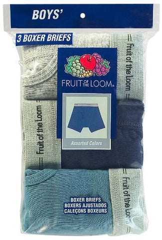 Fruit of the Loom Boys` 3-Pack Assorted Boxer Brief