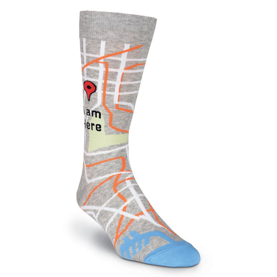K. Bell Mens I Am Here Crew Socks