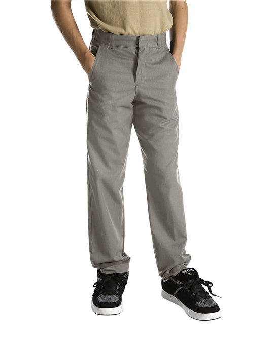 Dickies Boys Classic Fit Straight Leg Flat Front Pants (Husky)