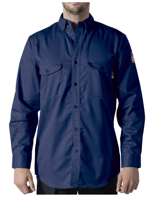 Walls Mens Flame Resistant Button-Down Work Shirt