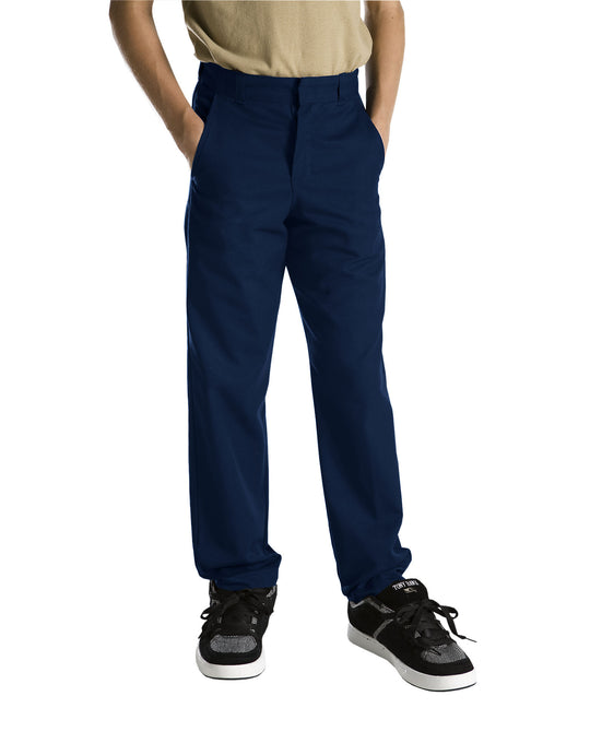 Dickies Boys Classic Fit Straight Leg Flat Front Pants, Sizes 8-20
