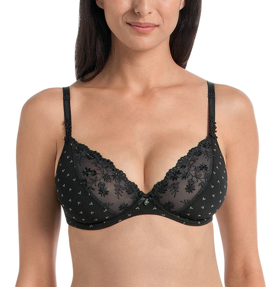 Rosa Faia Women`s Louisa Plunge Underwired Bra