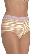 Barely There Got You Covered Cotton Stretch w/ Lace Modern Brief 2-Pk